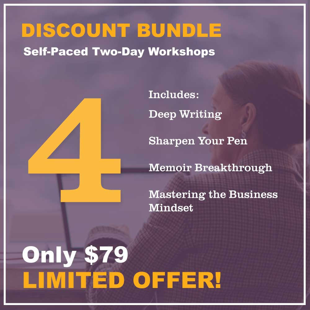 Discount bundle - 4 workshops $79